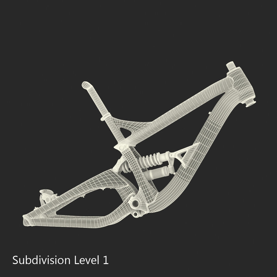 Mountain Bike Frame royalty-free 3d model - Preview no. 25