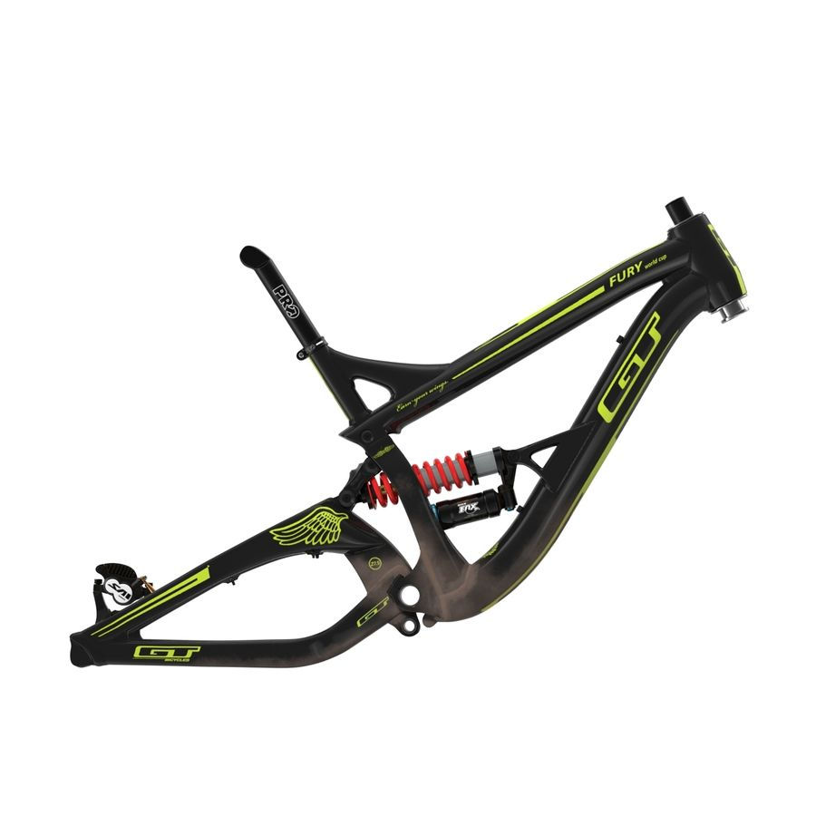 Mountain Bike Frame royalty-free 3d model - Preview no. 3