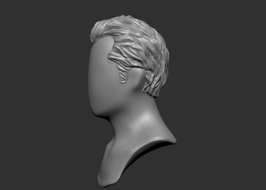 hairstyle royalty-free 3d model - Preview no. 5