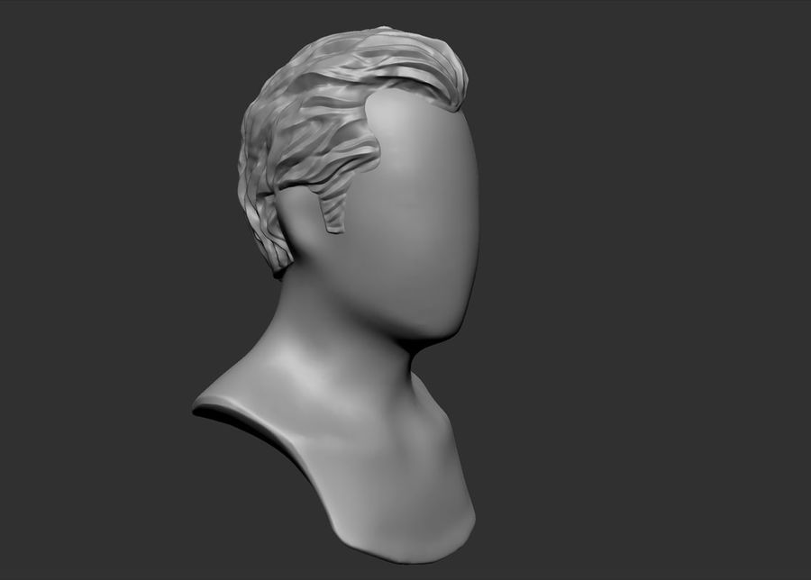 hairstyle royalty-free 3d model - Preview no. 10