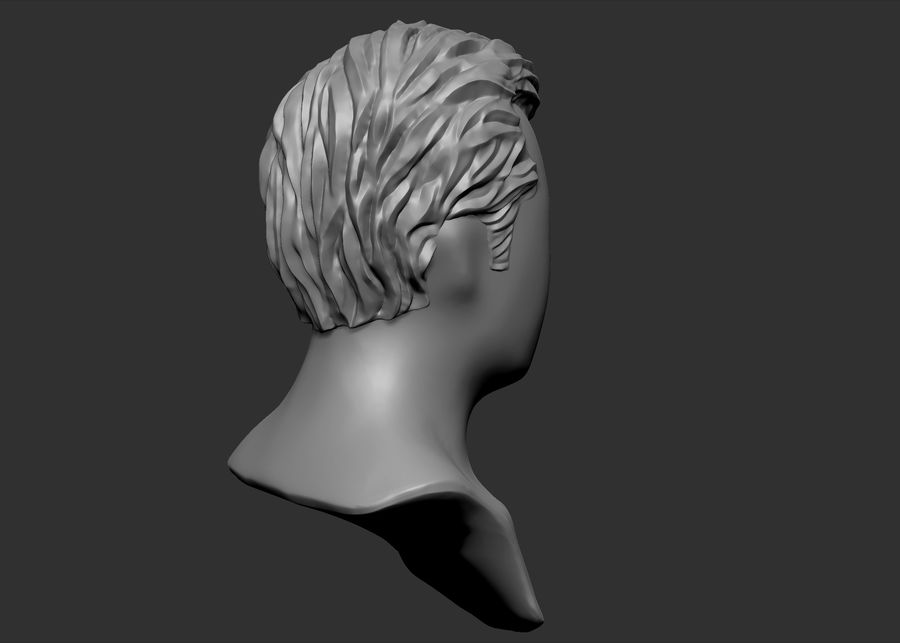 hairstyle royalty-free 3d model - Preview no. 9