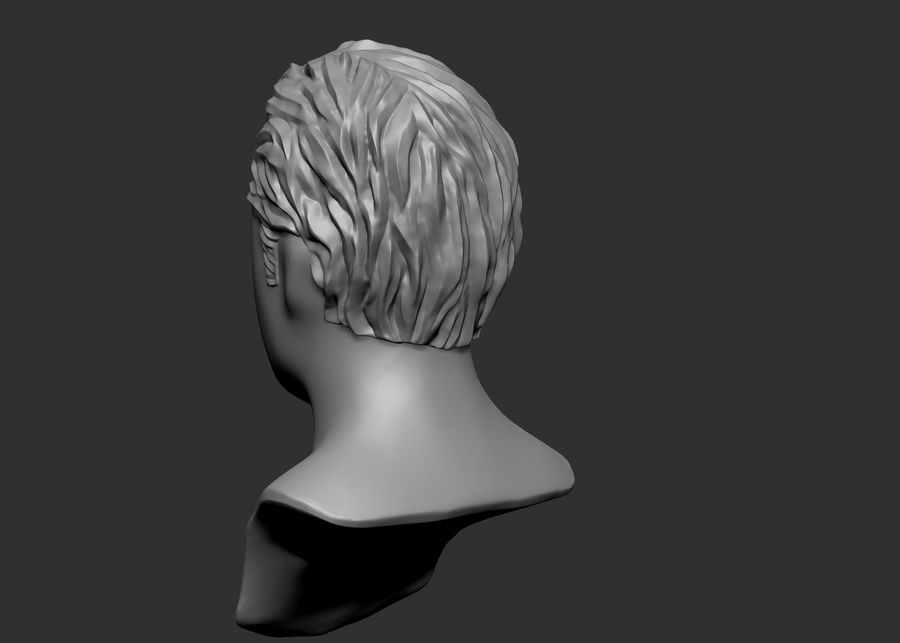 hairstyle royalty-free 3d model - Preview no. 7