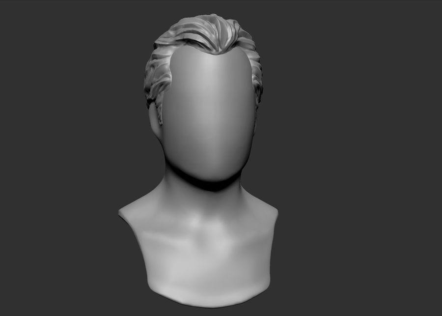 hairstyle royalty-free 3d model - Preview no. 1