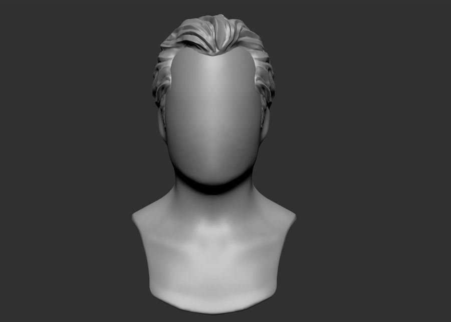 hairstyle royalty-free 3d model - Preview no. 2