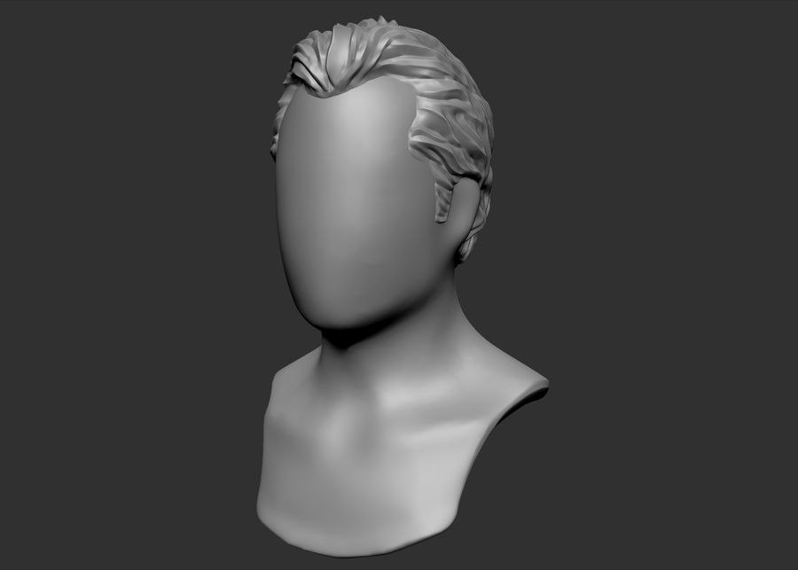 hairstyle royalty-free 3d model - Preview no. 3