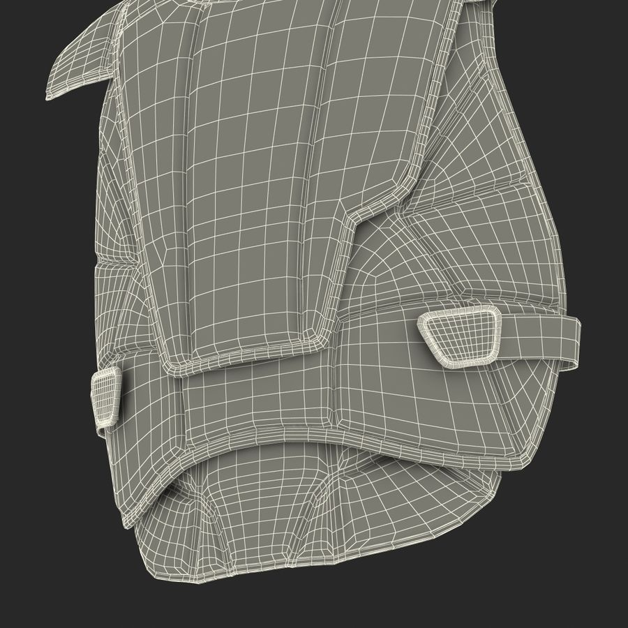 Hockey Goalie Chest Protector Generic royalty-free 3d model - Preview no. 33