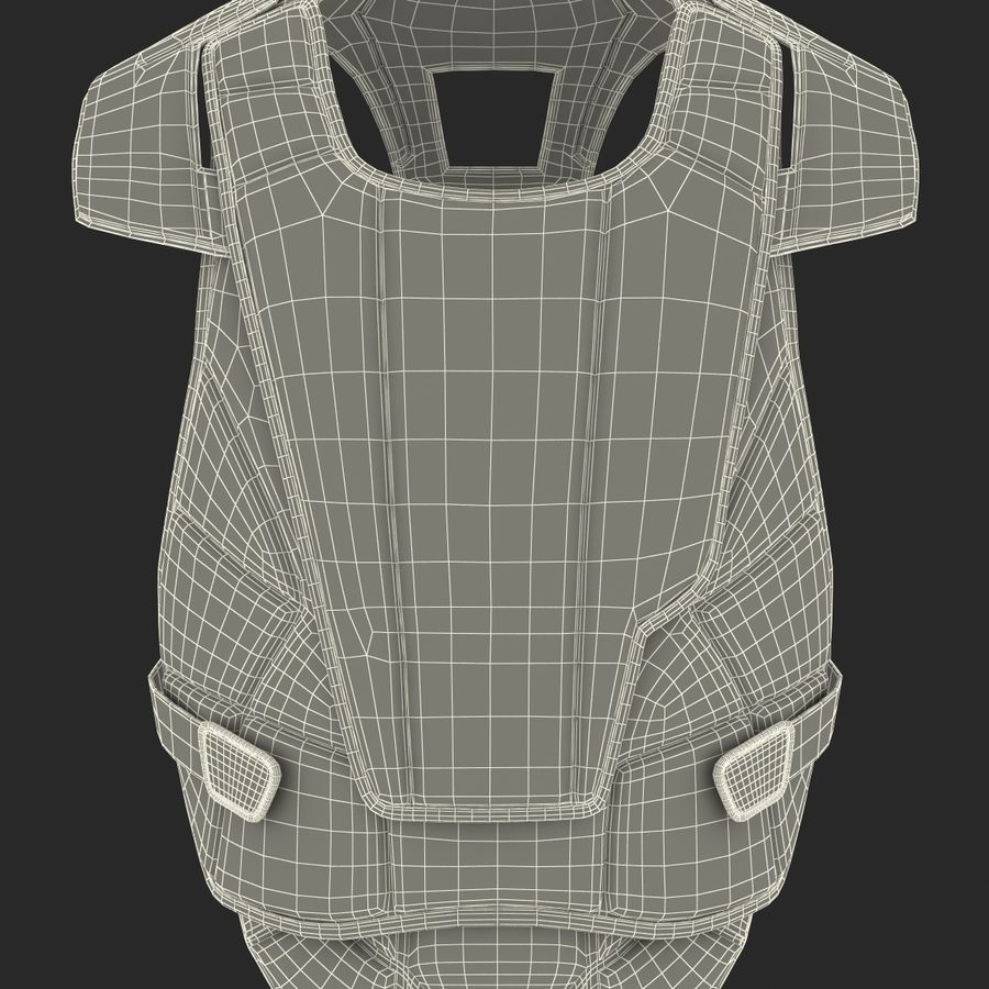 Hockey Goalie Chest Protector Generic royalty-free 3d model - Preview no. 32