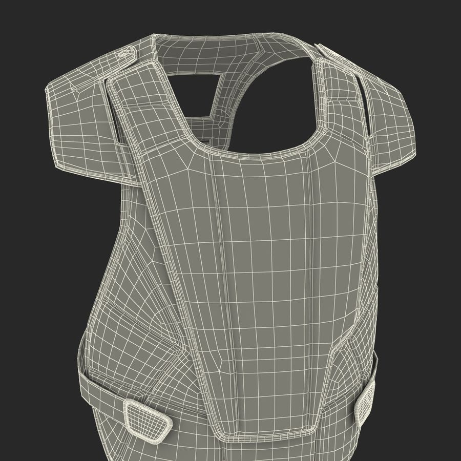 Hockey Goalie Chest Protector Generic royalty-free 3d model - Preview no. 31