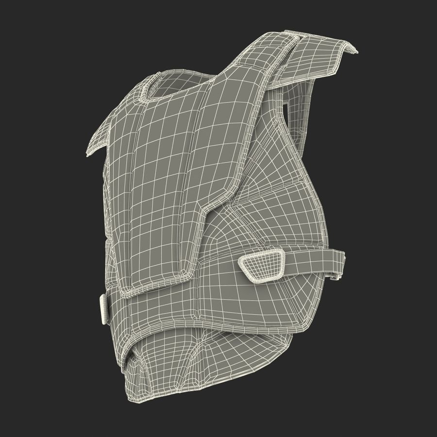 Hockey Goalie Chest Protector Generic royalty-free 3d model - Preview no. 25