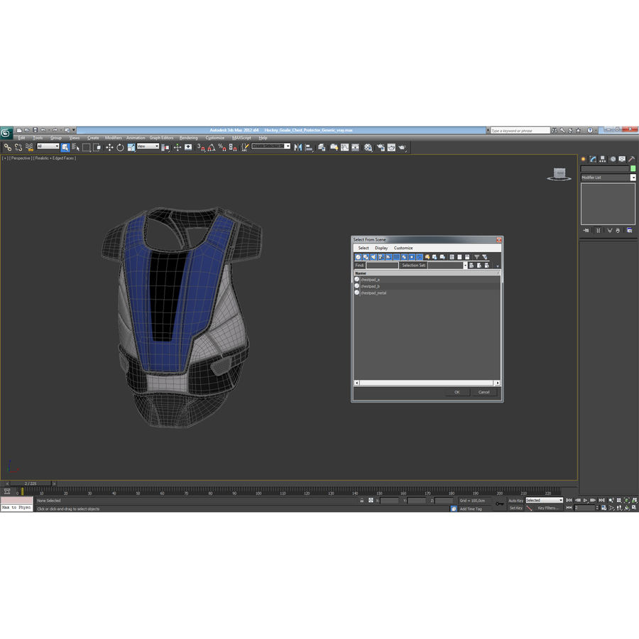 Hockey Goalie Chest Protector Generic royalty-free 3d model - Preview no. 22
