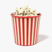 Popcorn in tazza 3d model