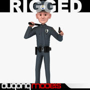 Rigged Cartoon Policeman 3d model