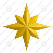Étoile jaune 3d model