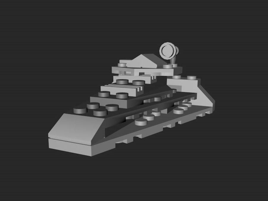 LEGO First Order Star Destroyer royalty-free 3d model - Preview no. 2