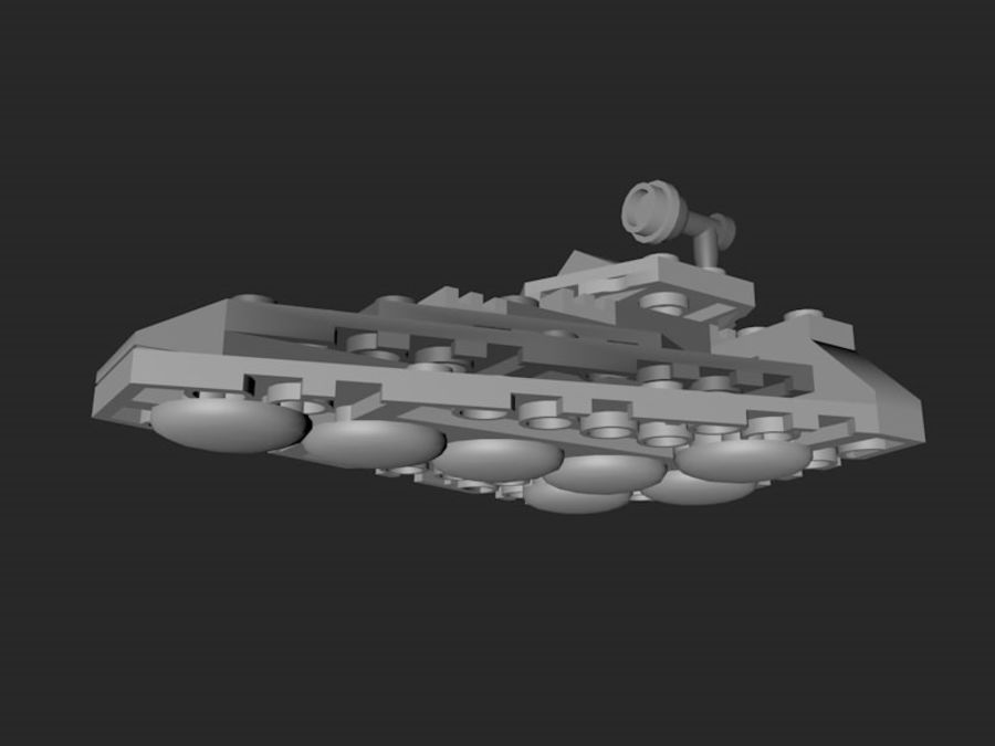 LEGO First Order Star Destroyer royalty-free 3d model - Preview no. 6