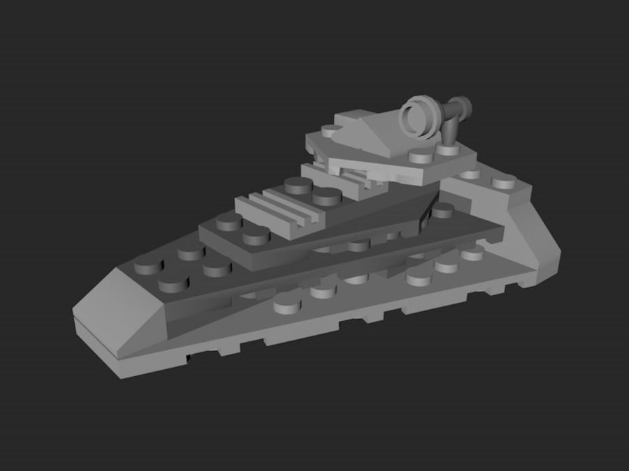 LEGO First Order Star Destroyer royalty-free 3d model - Preview no. 1