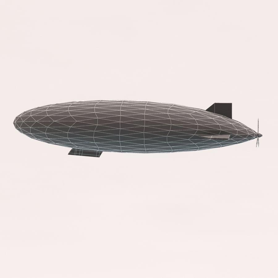 Zeppelin poly faible dessin animé royalty-free 3d model - Preview no. 10