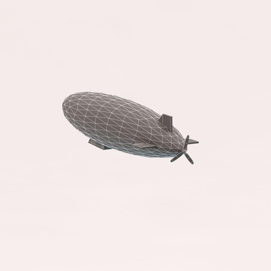 Zeppelin poly faible dessin animé royalty-free 3d model - Preview no. 11