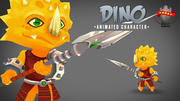 Dino 3D Animated Character 3d model