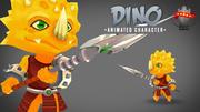 Dino 3D анимированный персонаж 3d model