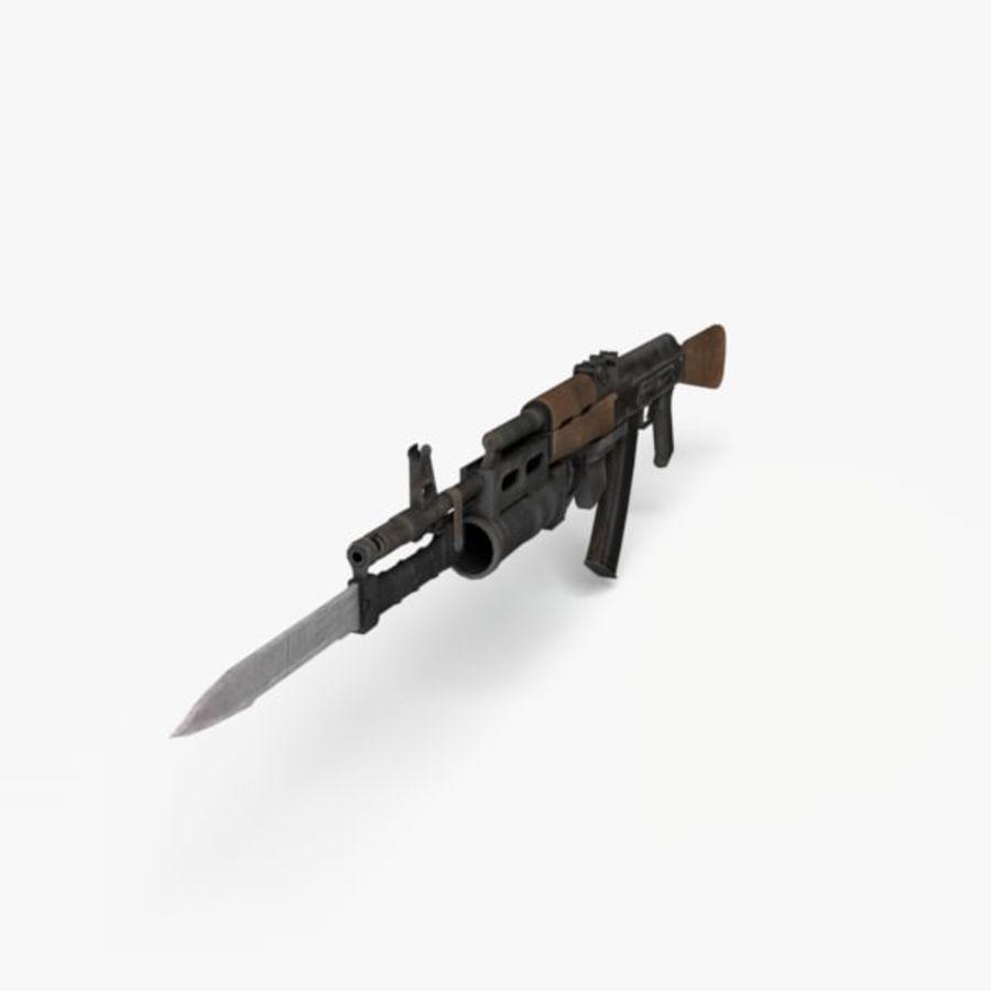 AK 74 royalty-free 3d model - Preview no. 4