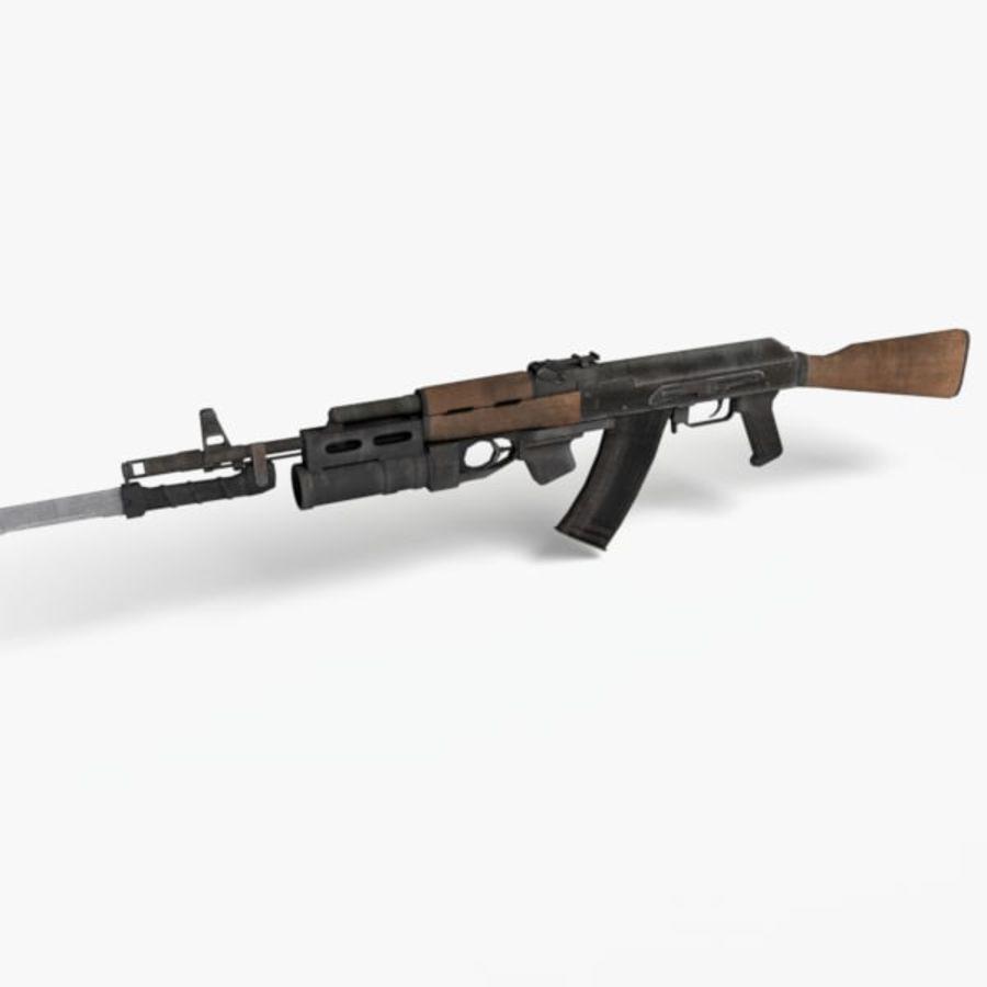 AK 74 royalty-free 3d model - Preview no. 2