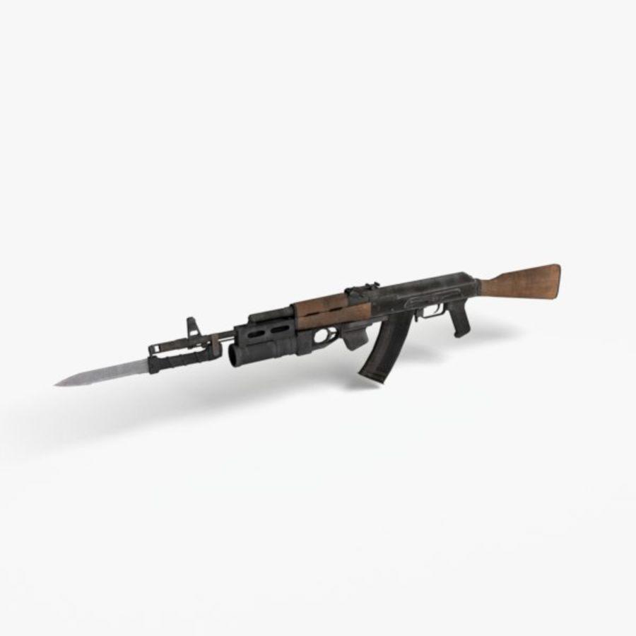 AK 74 royalty-free 3d model - Preview no. 5