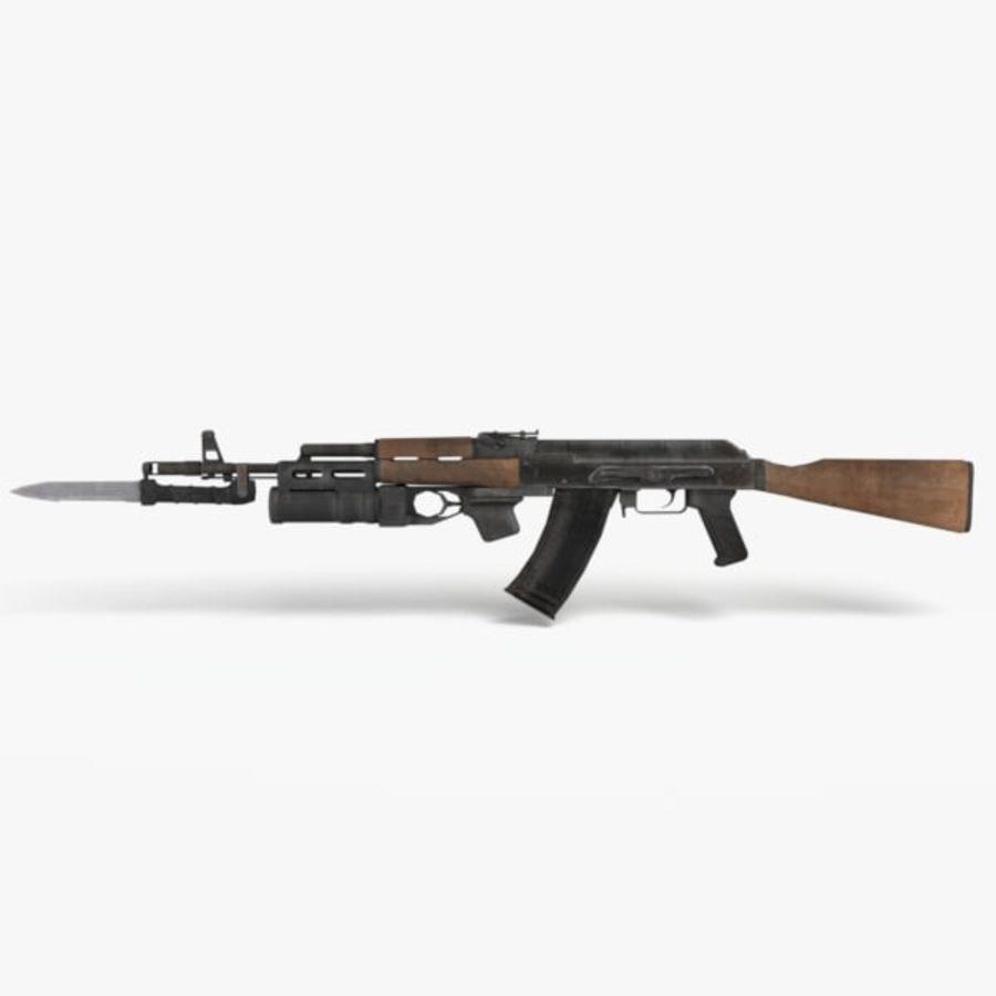 AK 74 royalty-free 3d model - Preview no. 1