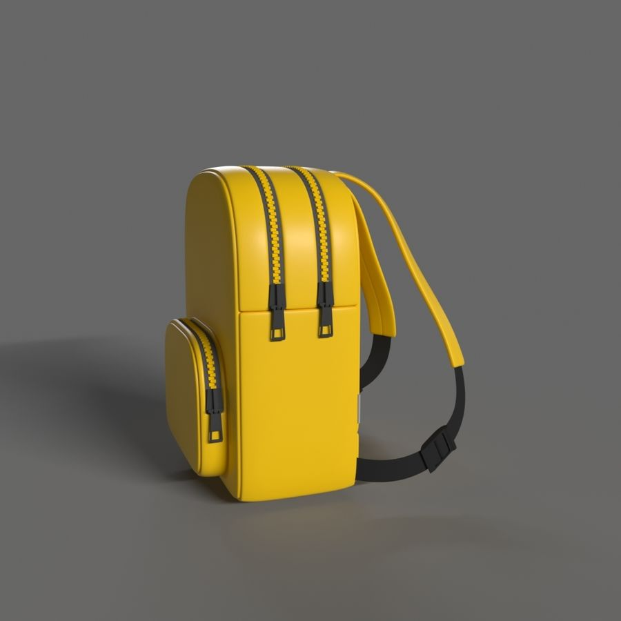 Backpack royalty-free 3d model - Preview no. 3