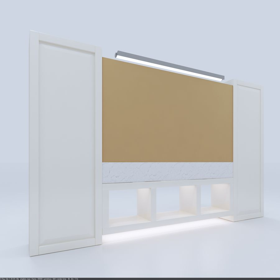 Bathroom Furniture room royalty-free 3d model - Preview no. 4