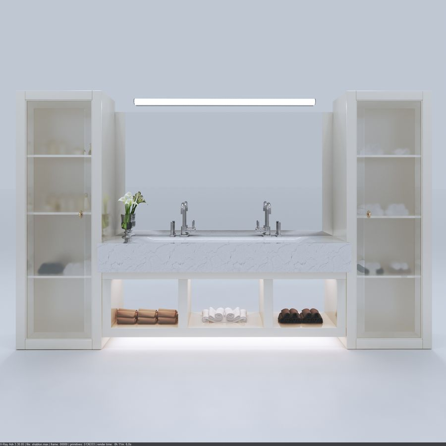 Bathroom Furniture room royalty-free 3d model - Preview no. 1