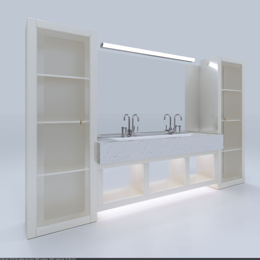 Bathroom Furniture room royalty-free 3d model - Preview no. 2