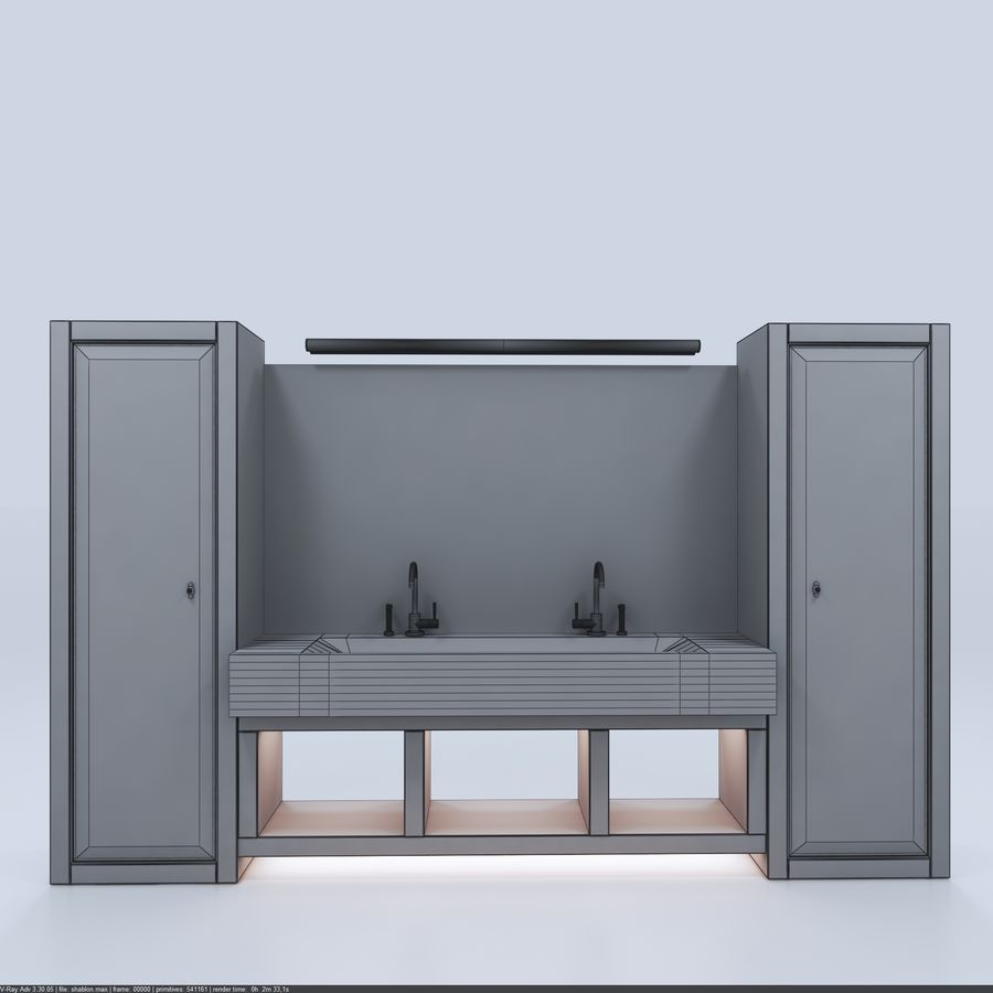 Bathroom Furniture room royalty-free 3d model - Preview no. 6