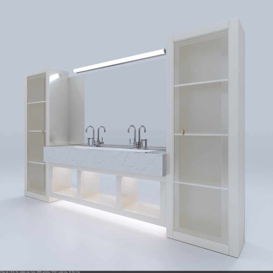 Bathroom Furniture room royalty-free 3d model - Preview no. 3