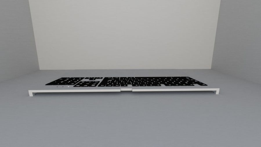 Keyboard Prop royalty-free 3d model - Preview no. 2