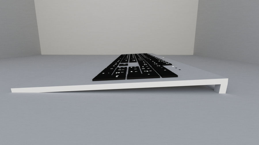 Keyboard Prop royalty-free 3d model - Preview no. 3