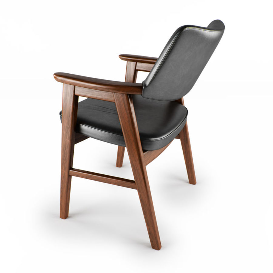 Danish Desk Chair royalty-free 3d model - Preview no. 4