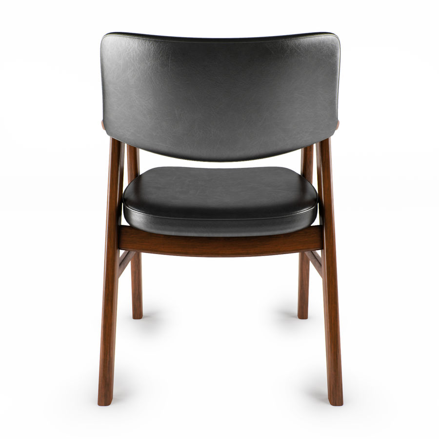 Danish Desk Chair royalty-free 3d model - Preview no. 3