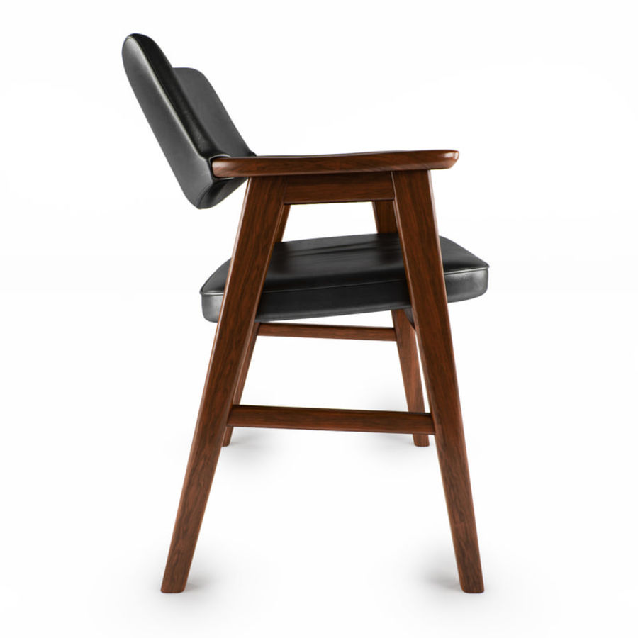 Danish Desk Chair royalty-free 3d model - Preview no. 2