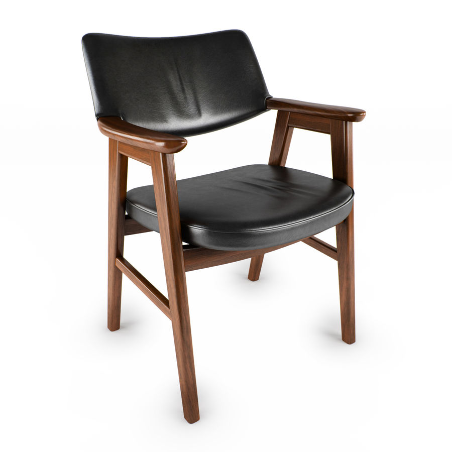 Danish Desk Chair royalty-free 3d model - Preview no. 1