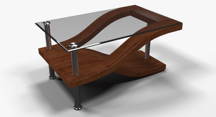 Tavolino moderno 3 royalty-free 3d model - Preview no. 2