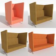 Sofa Mona Hoch 3d model
