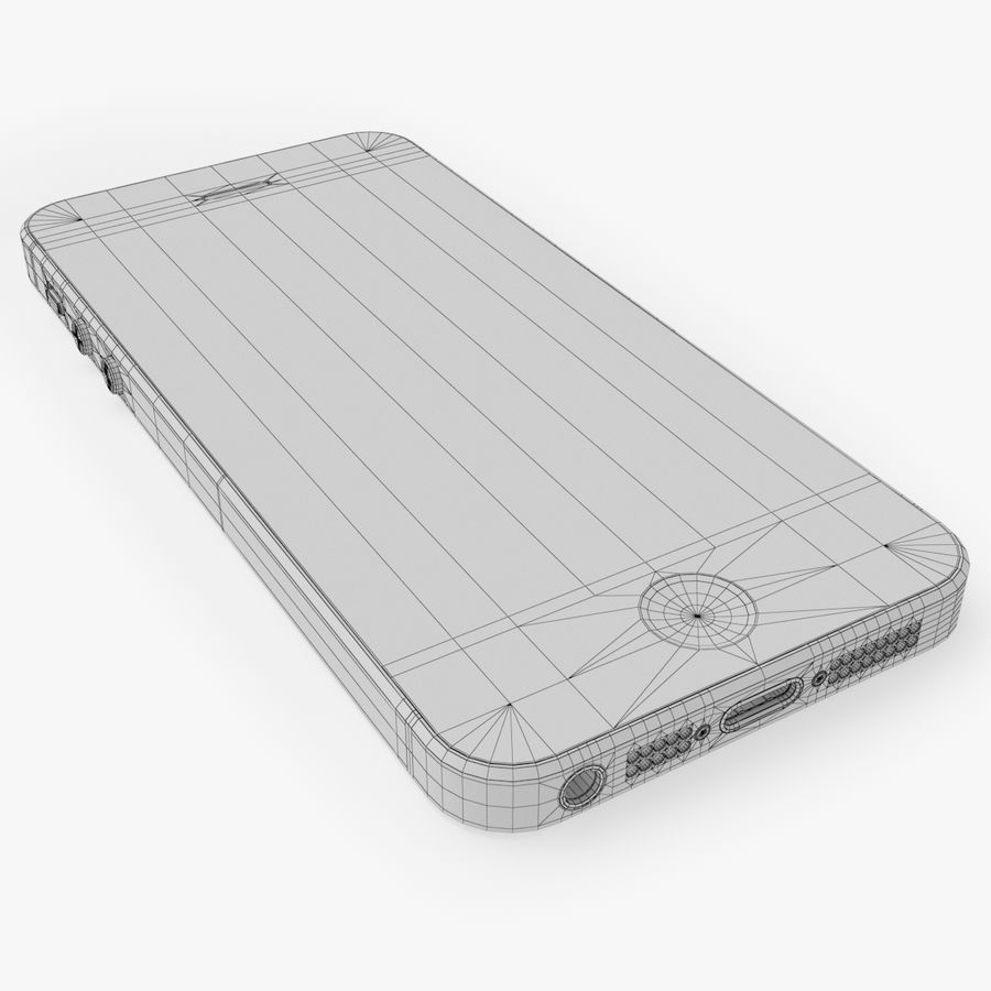 iPhone SE royalty-free 3d model - Preview no. 24