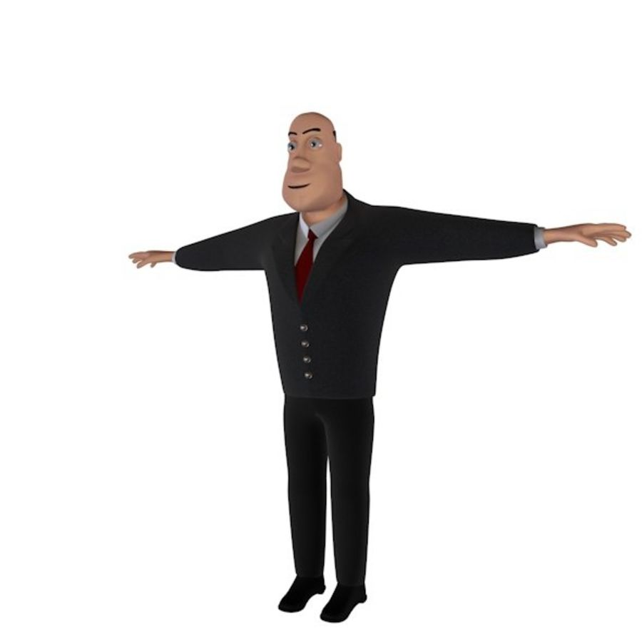 Cartoon Character royalty-free 3d model - Preview no. 3