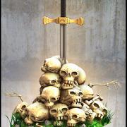 Crâne montagne 3d model