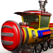 Train Cartoon 3d model