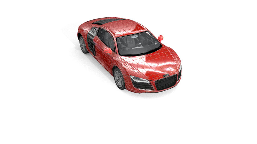 Audi r8 royalty-free 3d model - Preview no. 7