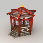 Lowpoly chinese pavilion 3d model