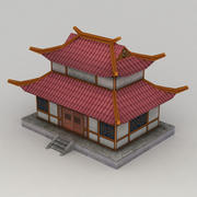 Lowpoly Chinese Building 3d model