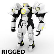 personaggio corazzato 3d model